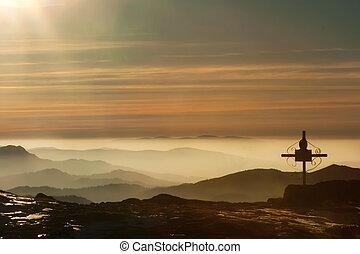 Sunset in Ceahlau Mountains,Romania