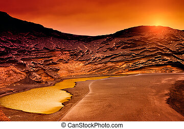 Sunset in Charco Verde, Lanzarote
