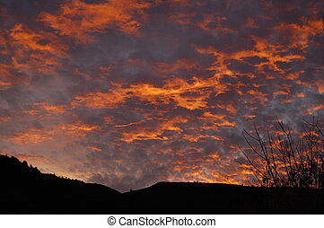 sunset in colorado