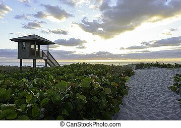 Sunset in Delray Beach, Florida