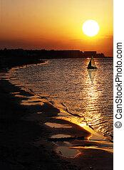 Sunset in Denia Alicante