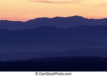 Sunset in desert, Arizona
