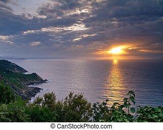 Sunset in Donostia-San Sebastian, Spain