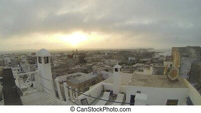 sunset in esueira medina, Morocco, timelapse