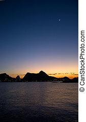Sunset in Guanabara Bay