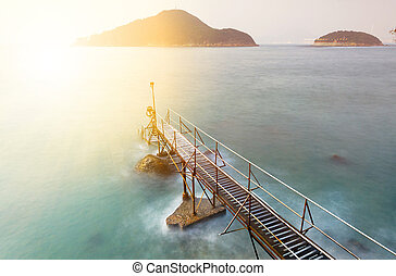 sunset in hong kong Bathing pavilion