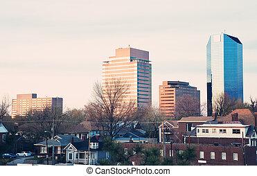 Sunset in Lexington - Sunset in the center of Lexington,...