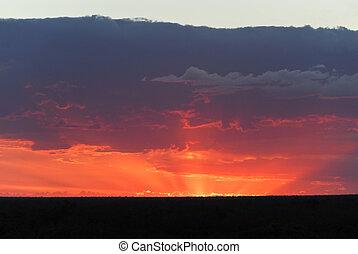 Sunset in Lightning Ridge