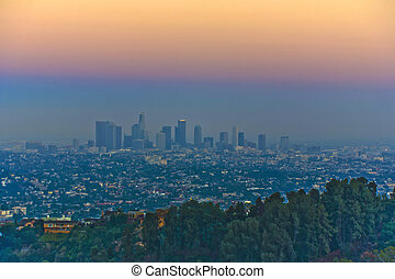 sunset in Los Angeles