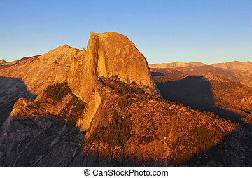 Sunset in national park Yosemite.