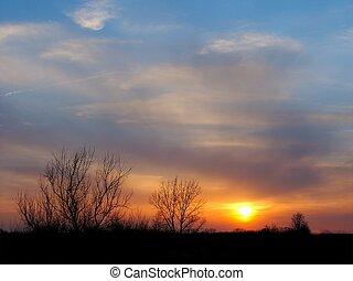 Sunset in northern Illinois