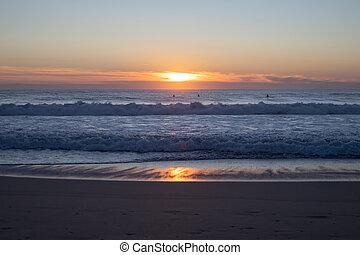 sunset in ocean, Baleal, Portugal