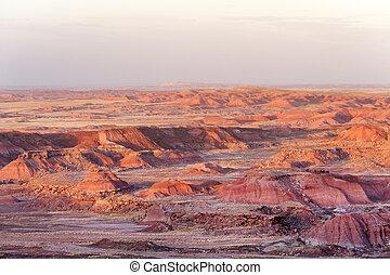 Sunset in Painted Desert