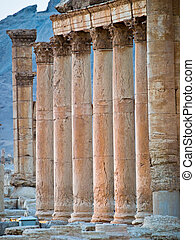 Sunset in Palmyra - Ancient Roman time town in Palmyra...