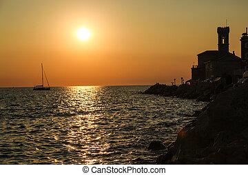 Sunset in Piran