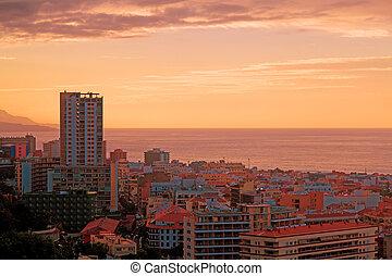 Sunset in Puerto de la Cruz, Tenerife