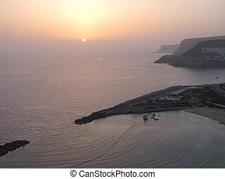Sunset in Puerto Rico, Gran Canaria