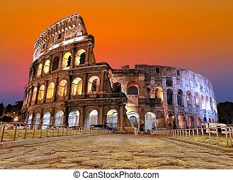 Sunset in Rome.