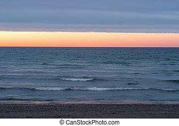 Sunset in Sainte-Anne-des-Monts, Quebec Province, Canada
