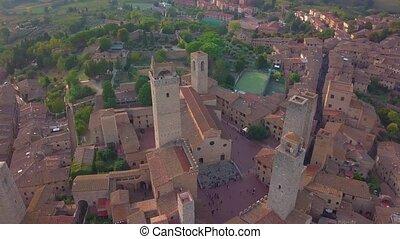 Sunset in San Gimignano, Tuscany Italy