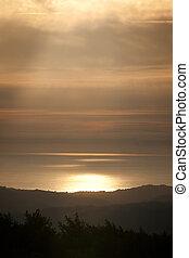 Sunset in Santa Cruz Mountains - Quintessential late...