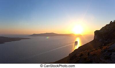 Sunset in Santorini island - Greece