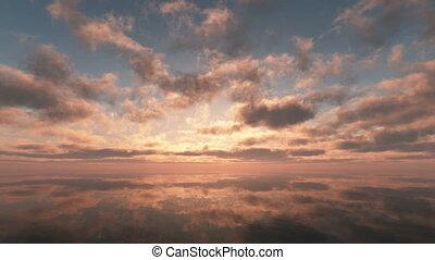 sunset in sea 4k