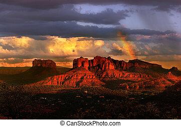 Sunset in Sedona - Beautiful Sedona Arizona during sunset