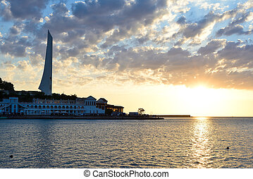 sunset in Sevastopol