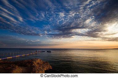 sunset in sharm el sheikh, egypt