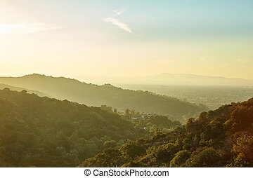 Sunset in Sun Fernando Valley