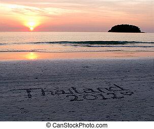 Sunset In Thailand