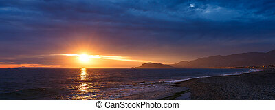 Sunset in the Bay of Alanya