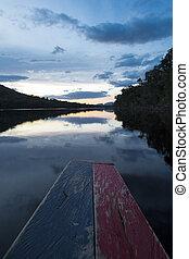 Sunset in the Canaima National Park, Venezuela.