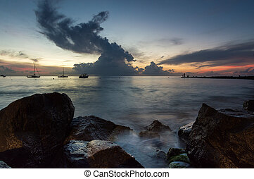 Sunset in the Caribbean