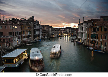 Sunset in the Grand Canal, Venice