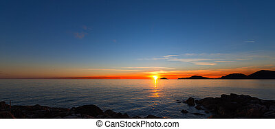 Sunset in the Gulf of La Spezia - Italy - Sunset in the Gulf...