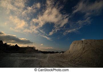 sunset in the limestone break