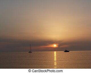 Sunset in the ocean