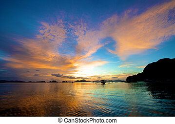 Sunset in the Philippines