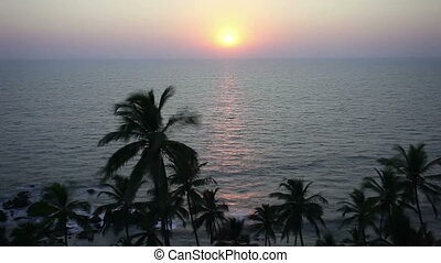 Sunset in the sea, Goa beach - Sunset in the sea timalapse...