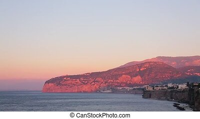 Sunset in the Sorrento Italy