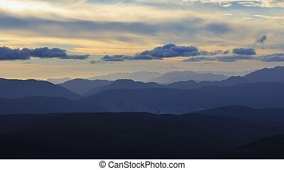 Sunset in the Southern Alps