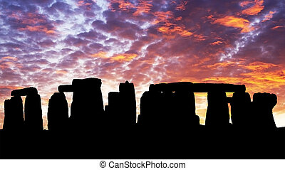 Sunset in the Stonehenge