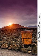 Sunset in Timanfaya, Lanzarote