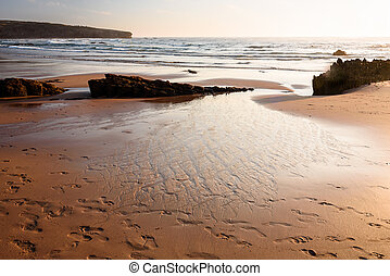 sunset in Vicentina coast - Armoeira beach in South-West ...
