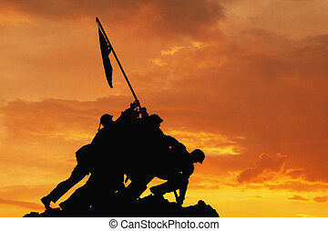 Sunset - Iwo Jima Memorial Washington D C USA