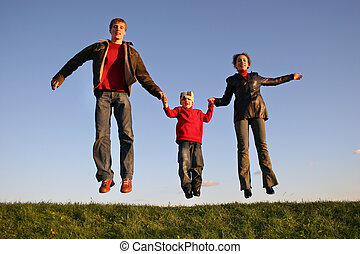 sunset jump family
