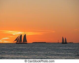 Sunset Key West - Photographed sunset at Key West, Florida