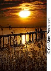 Sunset Lake - Garda Lake - Italy